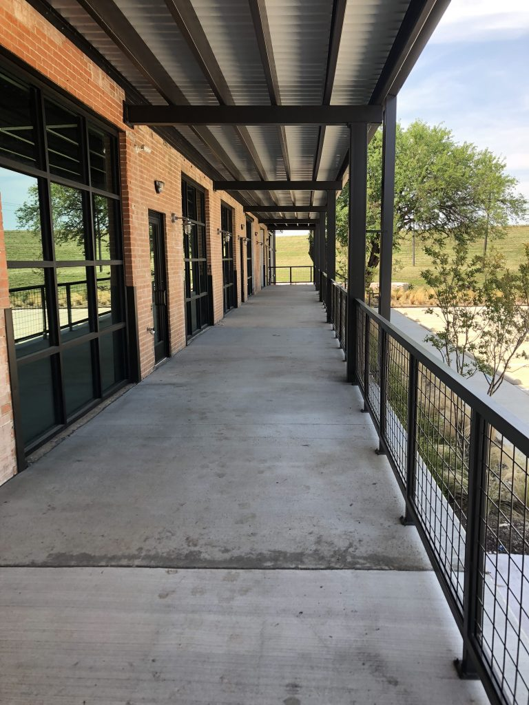 Outdoor patio stretches the length of the venue